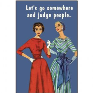 Lets Go Somewhere and Judge People fridge magnet (ep)
